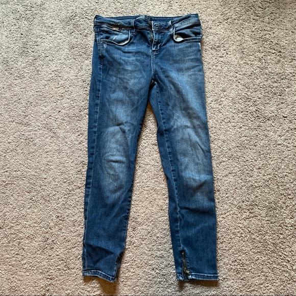 Zara basics low rise ankle jeans
